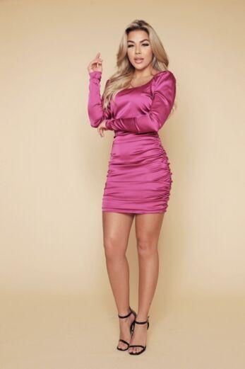 Unique the Label Ava Dress Magenta
