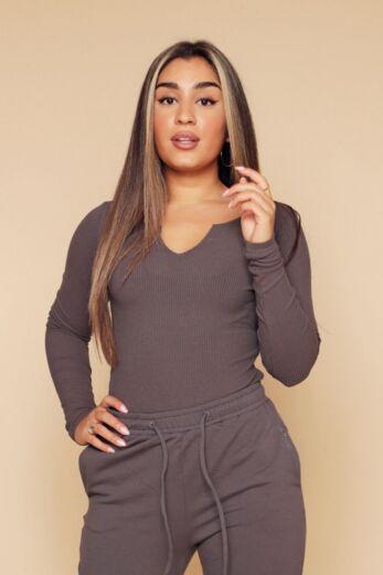 Unique the Label Kim Body Dark Grey
