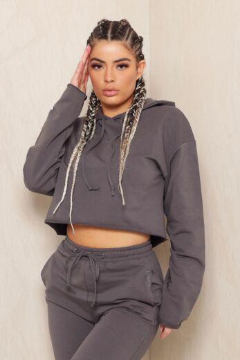 Kim Hoodie Dark Grey