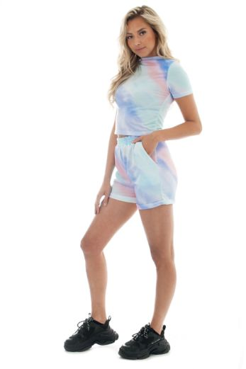 Love Me Comfy Two Piece Tie Die Blue