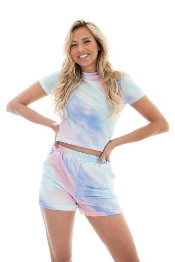 Eve Love Me Comfy Two Piece Tie Die Blue Close