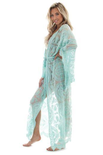 Luxury Lace Kimono Mint