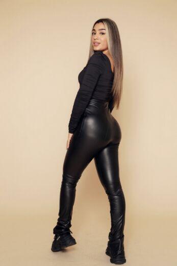 Lynn Ruched Bodysuit Black