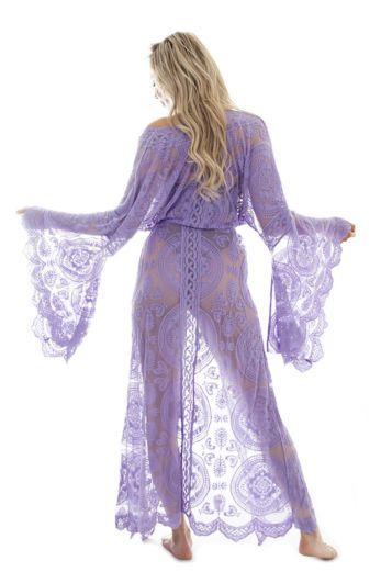 Luxury Lace Kimono Lila