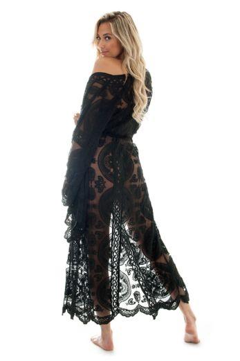 Luxury Lace Kimono Black