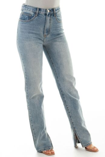 Straight Leg Split Jeans