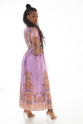 Nice Satin Wrap Dress Lila