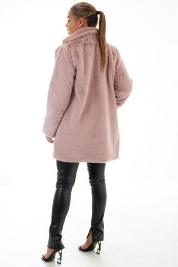 Chloe Button Coat Pink