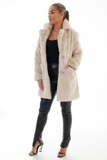 Chloe Button Coat Creme