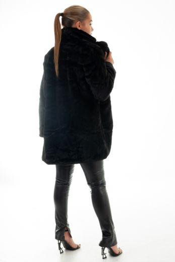 Chloe Button Coat Black