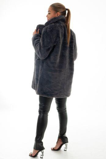 Chloe Button Coat Dark Grey