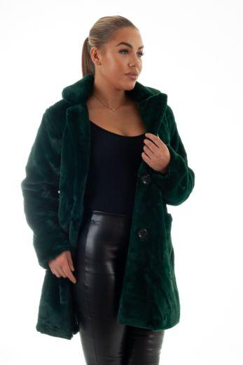 Chloe Button Coat Green