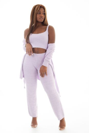 Eve Coco Fluffy 3 Piece Set Lila Front
