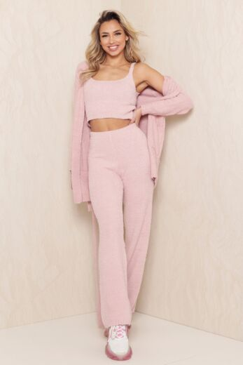 Eve Coco Fluffy 3 Piece Set Pink Side