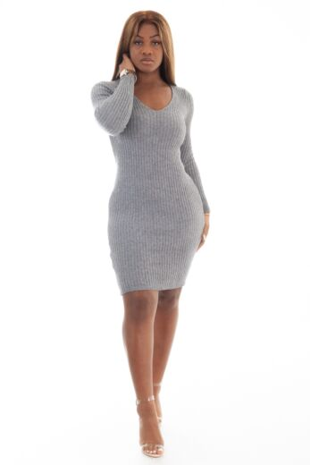 Comfy Doll Dress Grey