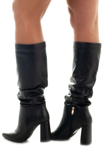 Jazzy Leather Boots Black