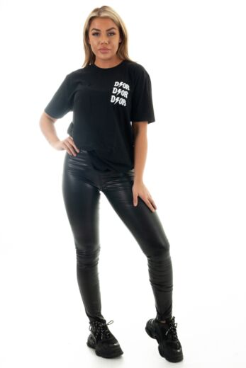 Eve Di*r Inspired Tee Black Front