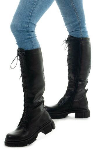 Eve Kelly Leather Boots Black