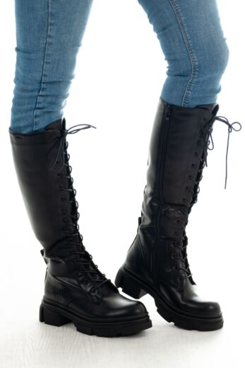 Kelly Leather Boots Black