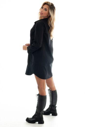 Kelly Leather Crocodile Boots Black