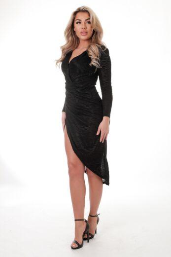 Eve Angelica Mesh Tiger Dress Black side