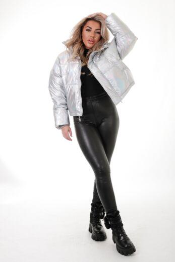 Eve Cloud Hologram Puff Jacket Front