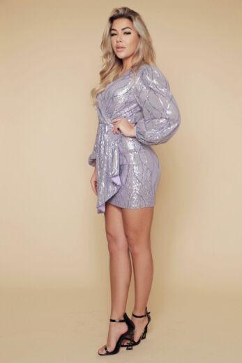 Liv Mermaid Sequin Dress Lila