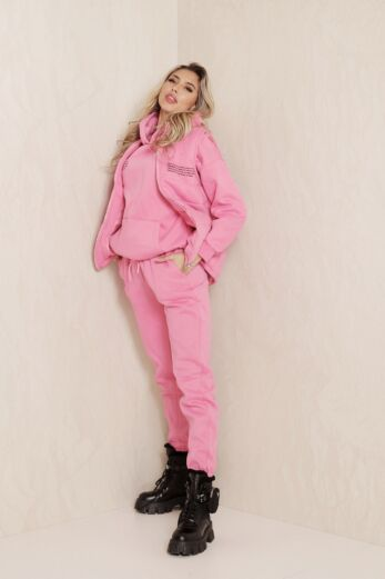 Eve Famous Tracksuit 3 Piece Pink