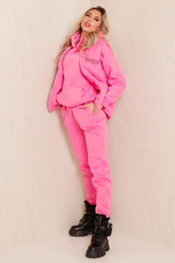 Famous Tracksuit 3 Piece Pink