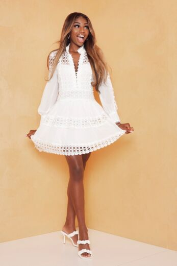 Eve Yacht Days Lace Dress White Front