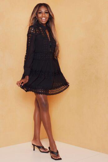 Eve Yacht Days Lace Dress Black