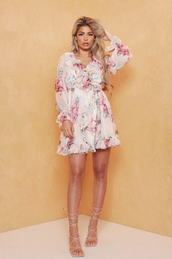 Too Good Flower Dress Pink