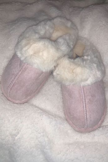 Classic Fluffy Slides Pink