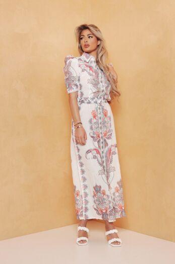 Romance Belt Dress White