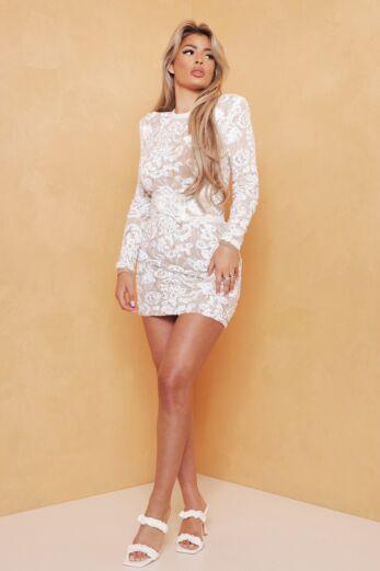 Avery Lace Dress White