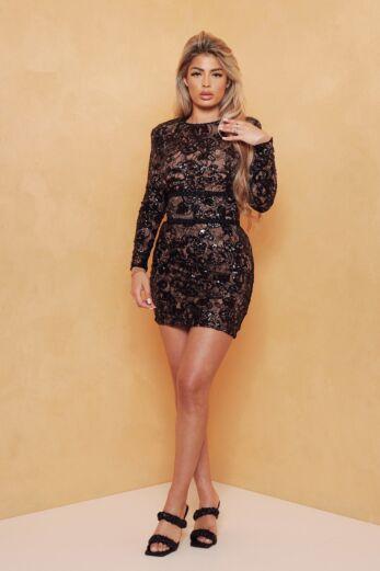 Avery Lace Dress Black