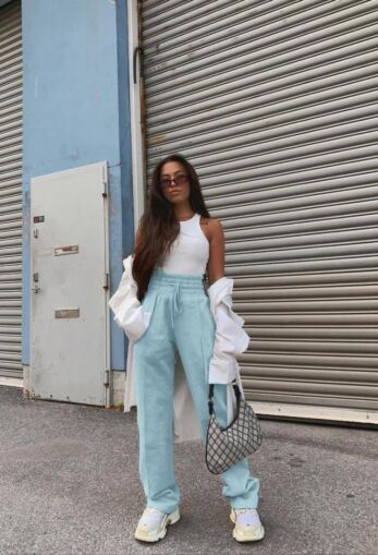 PRE ORDER - Lazy Wide Leg Joggers Mint