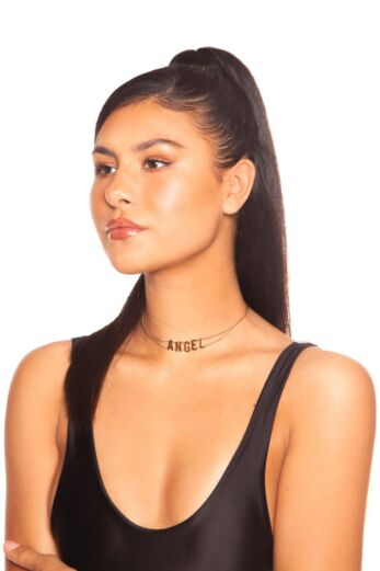 LA Sisters Angel Necklace Front