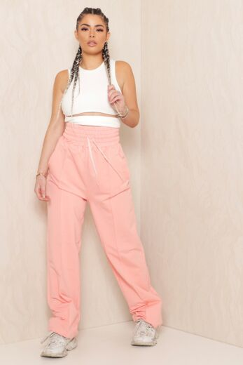 Eve Lazy Wide Leg Joggers Pink