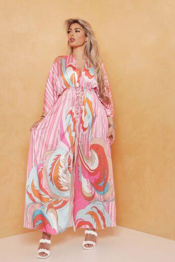 Soulfull Satin Maxi Dress Pink