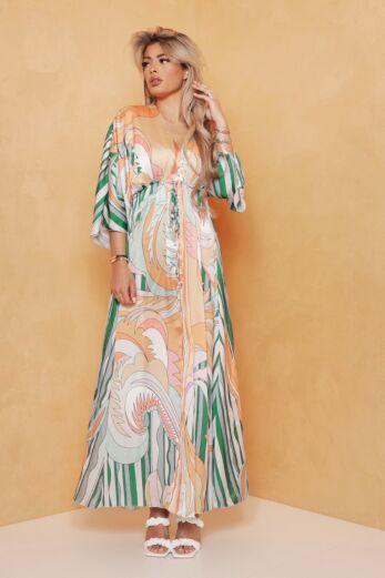Soulfull Satin Maxi Dress Green