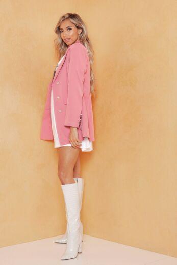 Rina Button Blazer Blush