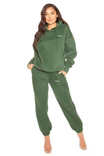 LA Sisters Essential Sweatpants Green Front