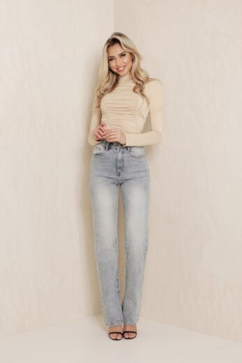Slinky Ruched Top Nude