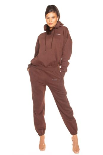 LA Sisters Essential Sweatpants Brown Front