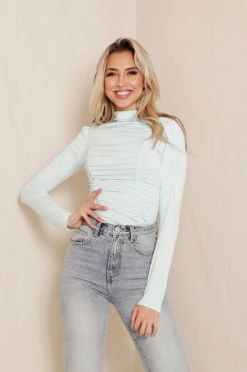Slinky Ruched Top Mint