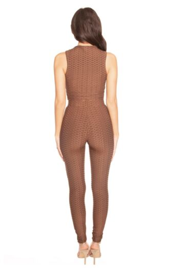 Honeycomb High Waisted Legging Brown
