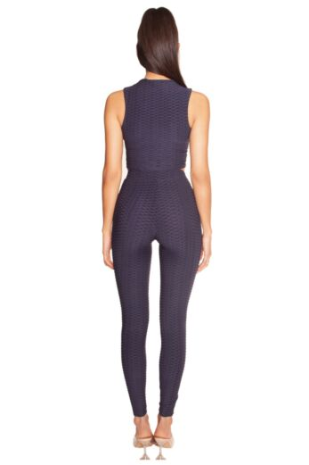 Honeycomb High Waisted Legging Navy