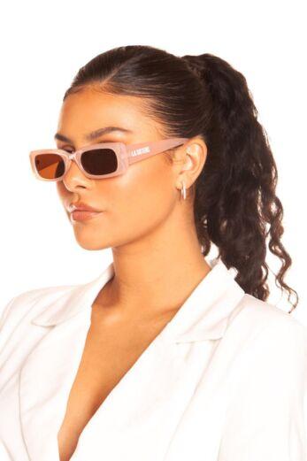 Rectangular Sunglasses Soft Pink