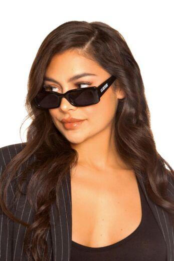 Rectangular Sunglasses Black